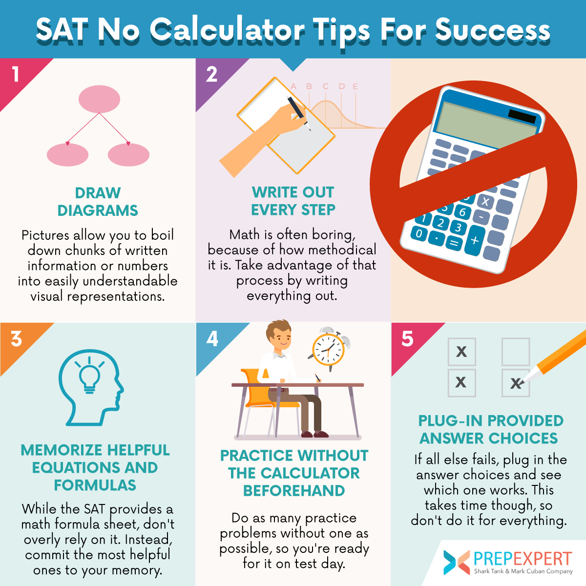 sat no calculator tips