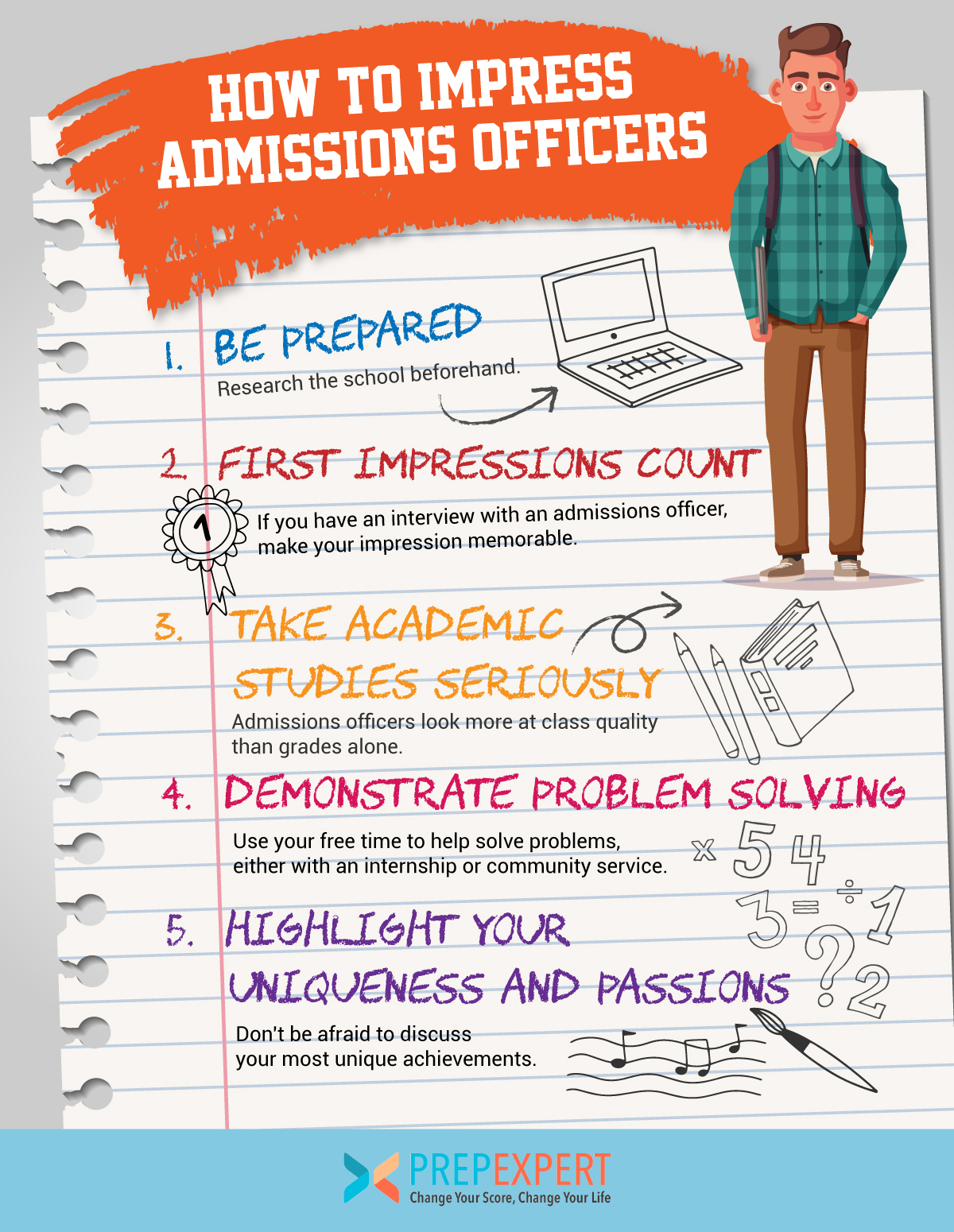 how to impress admissions officers